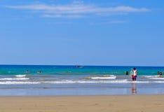 Murcielago beach, Manta, Ecuador Stock Photos