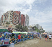 Murcielago beach in Manta, Ecuador Stock Images