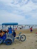 Murcielago beach in Manta, Ecuador Stock Photography