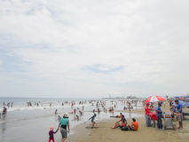 Murcielago beach in Manta, Ecuador Royalty Free Stock Photo