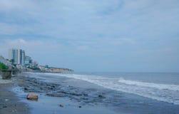 Murcielago strand, Manta, Ecuador Royaltyfri Fotografi