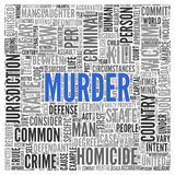MURDER Concept Word Tag Cloud Design Stock Image