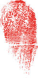 Murder Fingerprint Royalty Free Stock Photos