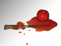 Murder in the kitchen. (è stata Miss Scarlet in cucina con il pugnale Royalty Free Stock Photography