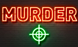 Murder neon sign Royalty Free Stock Images