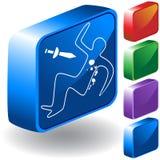 Murder Scene 3D Icon Stock Images