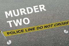 Murder Two concept Stock Photos