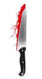 The Murder Weapon. A blood covered knife isolated on white Stock Image