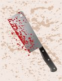Murder weapon cleaver Royalty Free Stock Images