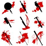 Murder weapons Stock Image