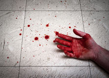 Murdered Bloody Hands stock photography