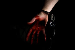 Murderer Bloody Hand Stock Images