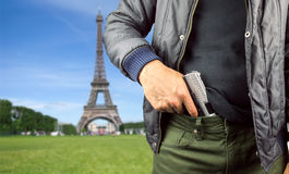 Murderer in Paris Royalty Free Stock Photos
