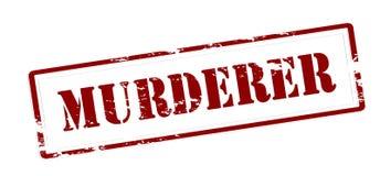 Murderer. Stamp with word murderer inside,  illustration Royalty Free Stock Image