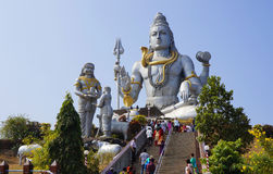 MURDESHVAR, KARNATAKA, INDIA - FEBRUARY 27, 2014: The world's la. The world's largest statue of the Hindu God Shiva, february 27, 2014,  in Murdeshvar, Karnataka Royalty Free Stock Photo