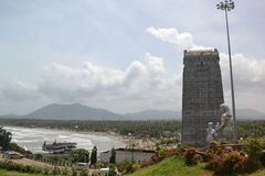 The peace is within all of us. Murdeshwar is a town in Bhatkal Taluk of Uttara Kannada district in the state of Karnataka, India. Murdeshwar is another name of Stock Photography