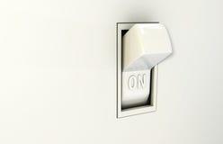 Mure o interruptor sobre ilustração stock