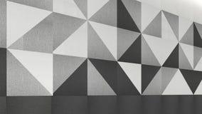 Mure os painéis acústicos, 3d rendem o design de interiores, zombaria acima do illustr Imagem de Stock