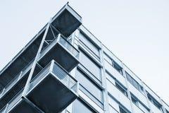 Muren, balkons, glas en beton Royalty-vrije Stock Fotografie