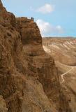 Muren bovenop Mt. Masada Royalty-vrije Stock Foto