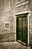 Muren, deuren en vensters Artistiek beeld Royalty-vrije Stock Afbeeldingen
