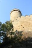Muren en toren van Kokorin-kasteel Royalty-vrije Stock Foto