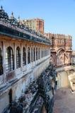 Muren en Verschillende delen van Mehrangarh-Fort, Rajasthan Stock Foto's