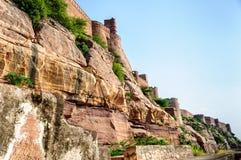 Muren en Verschillende delen van Mehrangarh-Fort, Rajasthan Royalty-vrije Stock Foto