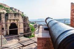 Muren en Verschillende delen van Mehrangarh-Fort, Rajasthan Royalty-vrije Stock Afbeelding