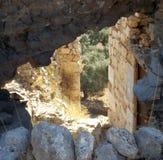 Muren oud kasteel Bechin Stock Afbeeldingen