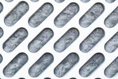 Muren van aluminium worden gemaakt dat. Stock Foto's