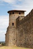 Muren van Carcassonne-Detail Stock Fotografie