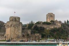 Muren van Constantinopel, Istanboel, Turkije stock afbeeldingen
