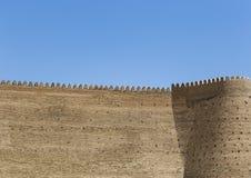 Muren van de Bak, de 5de Eeuwvesting in Boukhara, Oezbekistan royalty-vrije stock foto's