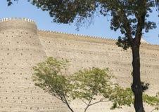 Muren van de Bak, de 5de Eeuwvesting in Boukhara, Oezbekistan royalty-vrije stock fotografie