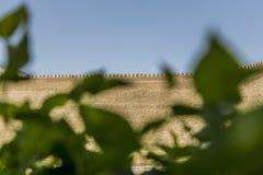 Muren van de Bak, de 5de Eeuwvesting in Boukhara, Oezbekistan stock fotografie
