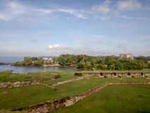 Muren van Galle-fort, Sri Lanka stock foto's