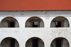 Muren van kasteel van midden Stock Foto