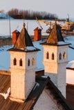 Muren van Kazan het Kremlin stock afbeeldingen