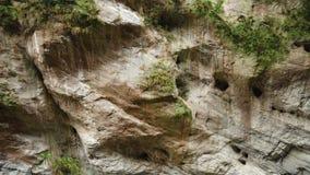 Muren van Marmer bij Taroko-Kloof Nationaal Park in Taiwan stock videobeelden