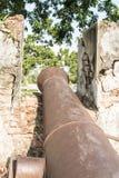 Muren van oud kanon Royalty-vrije Stock Foto's