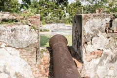 Muren van oud kanon Royalty-vrije Stock Fotografie