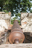 Muren van oud kanon Stock Afbeeldingen