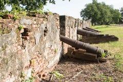 Muren van oud kanon Stock Afbeelding