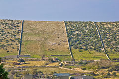 Muren van Pag-de woestijn van de eilandsteen royalty-vrije stock fotografie