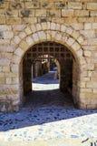 Muren van versterkte Montblanc, Catalonië. Royalty-vrije Stock Foto's