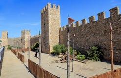 Muren van versterkte Montblanc, Catalonië. Royalty-vrije Stock Foto