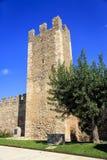 Muren van versterkte Montblanc, Catalonië. Royalty-vrije Stock Afbeeldingen