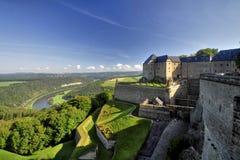Murensterkte Königstein Stock Afbeeldingen