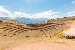 Mureny archeologicznego miejsca panoramiczny widok Cuzco Peru fotografia royalty free